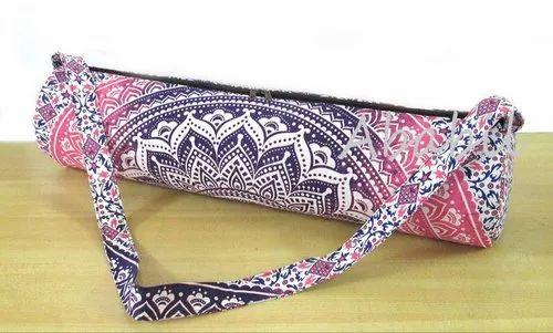 Yoga Bag Mat Shoulder Strap Gym Bags Mandala Carrier Exercise Indian Tote Large