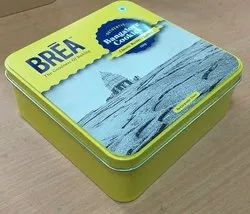 Printed cookies  Tin Container