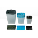 Black And Blue Compostable Colored Garbage Bag Roll