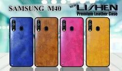 Lishen-Leather Samsung -M-40 Mobile Cover