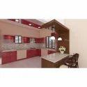 3D Design Modular Kitchen
