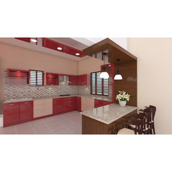 3D Design Modular Kitchen