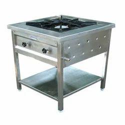 Stainless Steel 1 SS Single Burner Cooking Range