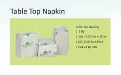 Plain White TABLE TOP NAPKIN, Size: 9.50cm X 21cm