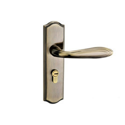 Brass Door Handle Lock, Finish Type: Brushed