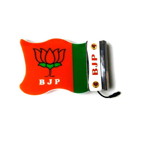 Orange, Green And White BJP Car LED Flag, Rs 2998 /piece
