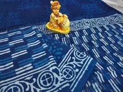 Bagru Hand Block Indigo Cotton Suit Materials