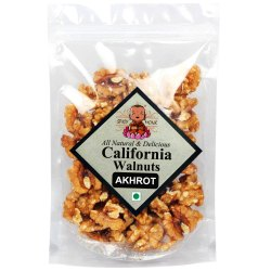 Spicy Monk California Walnuts Kernels, Grade-A Akhrot Giri Rich in Omega-3