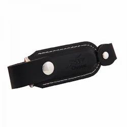 Black Customized Leather USB Pendrive
