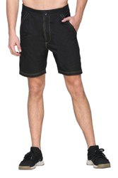 Mens Cotton Denim Black Shorts