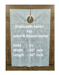 Non Woven Fabric Disposable Apron For Salon & Beauty Parlor