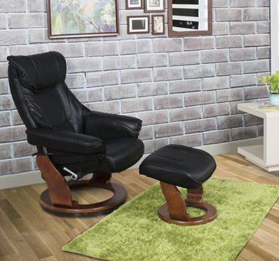 Tremendous Silas Lounge Chair With Footrest Black Alphanode Cool Chair Designs And Ideas Alphanodeonline