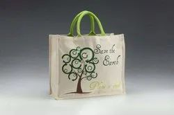 Short Cotton Padded natural & Dyed Jute Shopping Bags, Size/Dimension: 10 X 12,16 X 18 CUSTOM MADE, Capacity: 100000