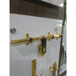 Brass Door Aldrop, Polished