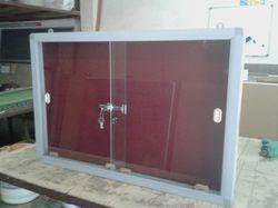 Sliding Glass Notice Board