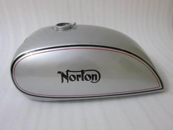 New Norton Commando Interstate Silver Painted Steel Petrol Tank