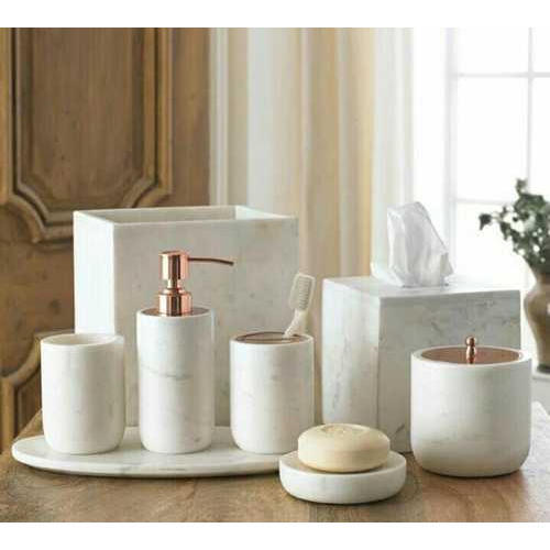 White Small Marble Bathroom Accessories Mine Art Id 20293663288