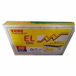 Exide Inverter Solar Battery, Capacity: 150 Ah