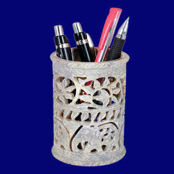 Beautiful Stone Carving Pen Holder