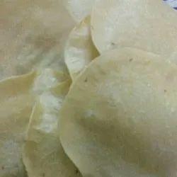 Round Plain Rice Roasted Khichiya Papad, Packaging Size: 500 G