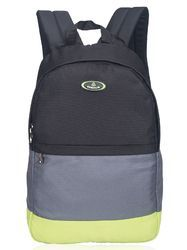 Black, Grey & Lime Casual College Bag