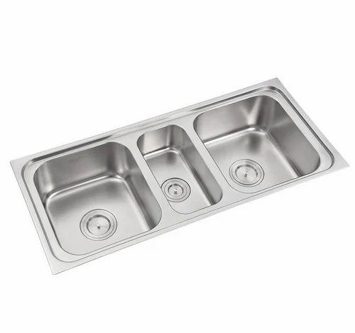 Three Bowl Kitchen Sinks 308 Steel Sink Stainless Steel Sink Stainless Kitchen Sinks Ss Kitchen Sink Stainless Sinks In Delhi Anupam Id 19539071473