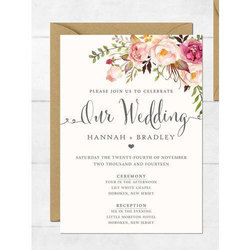 Multicolor Paper Wedding Invitation Cards