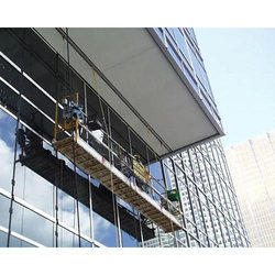 Monorail System Using For Glass Cleaning & Facade Maintenance