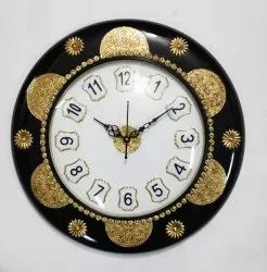 Handicraft Festival Wooden Antique Wall Clocks For Home, Size: 18 Inches