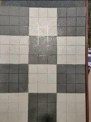 Concrete Square Chequered Tiles