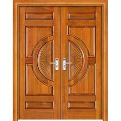 Double Door Designer Wooden Door