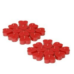 Set of 24 Heart Shaped Tealight Candles