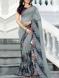 Casual Wear Printed Cotton Saree, With blouse piece, 5.5 mtr