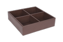 Brown Leatherette Sachet Holder, For Hotel Accessory, Features: Durable