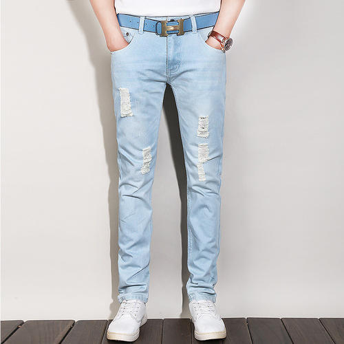 8870a119 Denim Mens Light Blue Ripped Jeans, Rs 650 /piece, Digital Time ...