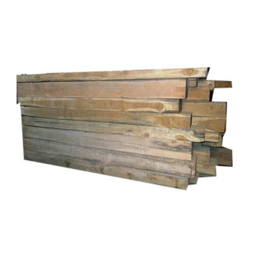 10 Feet Brown Sal Wood Planks, Thickness: 2 Inch | ID