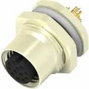M12 12Pin Female Panel Mount Connector