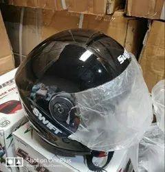 Black Motorcycle Half Face Helmet