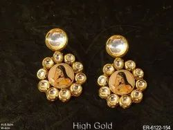 Lady Designed Kundan Earrings