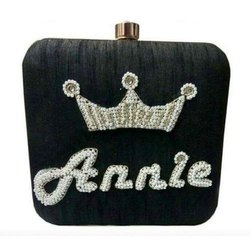 Black Personalized Party Clutch