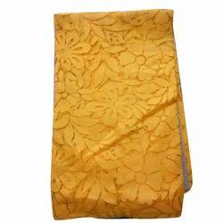 Yellow Cotton Net Fabric