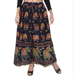 Ladies Jodhpuri Printed Skirt