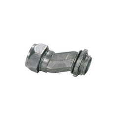 Silver EMT-Box Compression Type Offset Connector