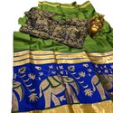 Indian Cotton Silk Sarees With Blouse