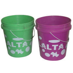 Colored Plastic Paint Bucket