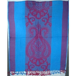 Viscose Jacquard Shawls With Fringes