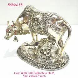 Cow With Calf & Ladu Gopal Big Slox