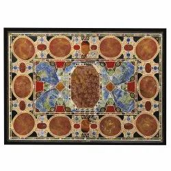 Stone Marble Inlaid Coffee Table Top Pietra Dura Art Work