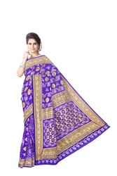 All Over Light Blue Color Banarasi Georgette Saree