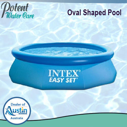Oval Shaped FRP Swimming Pool, Dimension: 12 x 2.5 feet deep